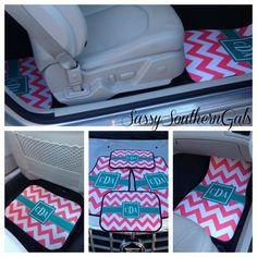 Car mats monogrammed / personalized car mats, complete set