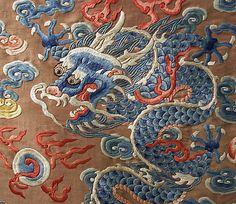 Court robe  Date:     18th century Culture:     Chinese Medium:     silk, metal