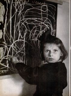 """Tereska Draws Her Home"", photo by David Seymour, Vol. 25, No. 26, December 27,  1948, p. 16"