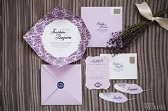Romantic lilac #wedding #stationery | Photography by: Alicia Thurston Photography | WedLuxe Magazine