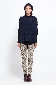 Black Crane Box Sweater (Navy)