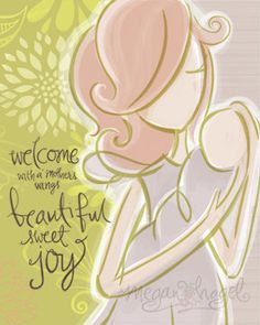 New Mother Wall 8x10 Art Print Welcome Sweet Baby, $18.00