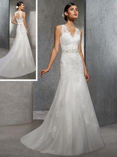 robe de mariée trapèze avec ceinture