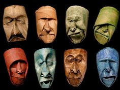 Toilet Paper Rolls Squished into Funny Faces by Junior Fritz Jacquet. Another use for the toilet paper rolls I collect for org projects! Origami Toilet, Toilet Paper Roll Art, Sculpture Textile, Paper Sculptures, Sculpture Ideas, Paper Artist, Recycled Art, Art Plastique, Funny Faces
