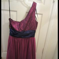 Selling this Glittery Pink and Purple Formal Dress! NEVER WORN! in my Poshmark closet! My username is: glittergirl94. #shopmycloset #poshmark #fashion #shopping #style #forsale #Dresses & Skirts