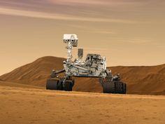 NASA - Mars Rover Curiosity in Artist's Concept, Wide