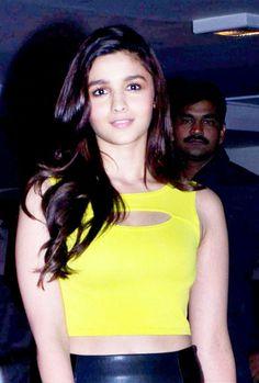 Alia Bhatt at Karan Johar's birthday bash. #Style #Bollywood #Fashion #Beauty