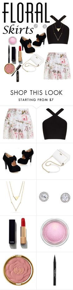 """Floral is the Definition of Spring"" by teamusa21 ❤ liked on Polyvore featuring Zimmermann, BCBGMAXAZRIA, Chanel, MAC Cosmetics, Milani, Trish McEvoy, Bobbi Brown Cosmetics and Floralskirts"