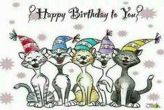 Happy gatos - Happy Birthday Funny - Funny Birthday meme - - Happy gatos The post Happy gatos appeared first on Gag Dad. Funny Happy Birthday Pictures, Happy Birthday Art, Birthday Wishes Quotes, Cat Birthday, Happy Birthday Greetings, Birthday Messages, Funny Birthday, Birthday Sayings, Funny Cards