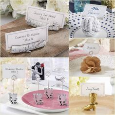 Place Card Holder Favors from hotref.com