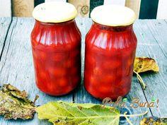 Rosii in bulion pentru iarna, naturale, fara conservanti, metoda simpla si rapida. Canning Pickles, Romanian Food, Romanian Recipes, Celery, Salsa, Vegetarian, Cooking, Health, Sauces