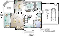 Plan de Rez-de-chaussée Maison traditionnelle américaine, 3 à 4 chambres, bureau à domicile, belle lumière - Bainbridge