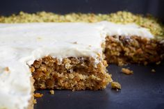 Crystallized ginger packs a nice zing in this lightly spiced cake.