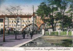 """""""Újvárosi előrészlet az Evangelikus Convent épülettel"""" 1937 Sidewalk, Walkway, Walkways, Pavement"""