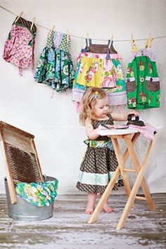 who knew ironing could be such a cute idea for a photo session?