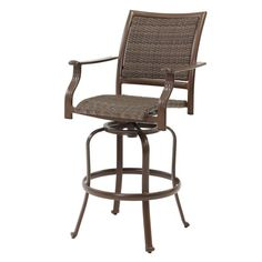 Panama Jack Outdoor Island Cove Woven Swivel Barstool, Extruded Aluminum Frame that will not rust w/Viro Fiber Weave. Weather and UV resistant. Sturdy aluminum legs for extra support. Upscale Furniture, Home Bar Furniture, Furniture Factory, Rattan Furniture, High Quality Furniture, Outdoor Furniture, Wood Bar Stools, Swivel Bar Stools, Outdoor Island