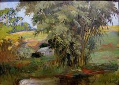 Touceiras de bambu, Alípio Dutra (Brasil, 1892-1964) óleo sobre tela PESP — Pinacoteca do Estado de São Paulo