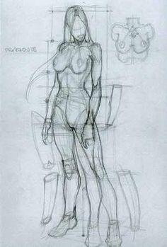 Anatomické kresby Sketchbook, umělec Study prostředky pro studenty umění se díky umělce Simone Bianchi, CAPI ::: Vytvořit Art portfolia nápadů milliande.com, umělecká škola portfolio práce - Eva