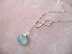 INFINITY Necklace- Getting this as Mom jewelry w/ kids' birthstones.
