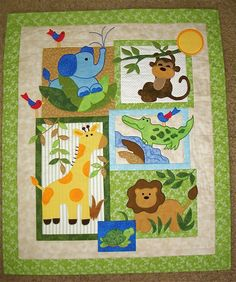 The little jungle quilt that I've been working on is finally finished, labeled and everything! This one was quite a challenge, but so much f...