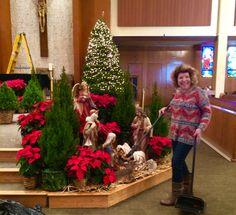 Holy Spirit Catholic Church Christmas 2015  sc 1 st  Pinterest & Church Christmas Decorating Ideas | Church | Pinterest | Churches ...