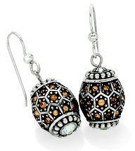 Onyx Tiles bead on Margot Twist earrings