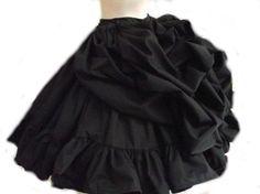 Bustle Ruffled Skirt