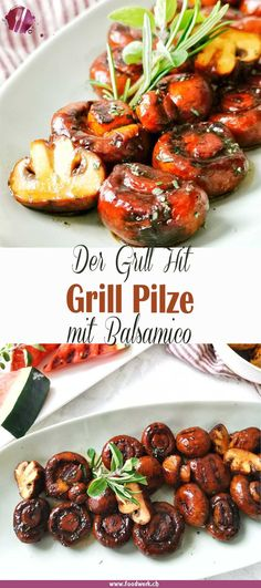Balsamico Grill- Champignons eating breakfast eating dinner eating for beginners eating for weight loss eating grocery list eating on a budget eating plan eating recipes eating snacks Vegan Barbecue, Barbecue Recipes, Grilling Recipes, Healthy Eating Tips, Clean Eating Recipes, Clean Eating Snacks, Grilled Mushrooms, Stuffed Mushrooms, Snacks Sains