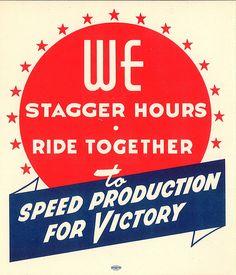 World War II sticker, circa 1943 by Seattle Municipal Archives.