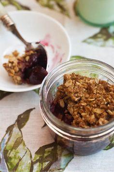 Individual Cherry Vanilla Crisps in Jars