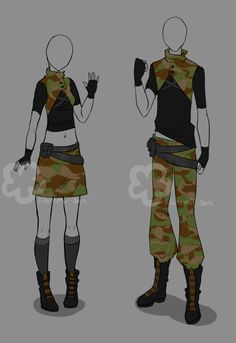 Military Outfit - unlimited by Nahemii-san on DeviantArt Manga Clothes, Drawing Clothes, Clothing Sketches, Fashion Sketches, Anime Outfits, Cool Outfits, Estilo Fashion, Character Outfits, Designs To Draw