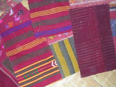 Colorful Turkish Tent Wrapping and Kilim Patchwork Custom Rugs. $21.50, via Etsy.