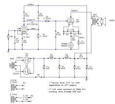RRA 2A3 Valve Amplifier, Audio Amplifier, Reference Book, Circuit Diagram, Vacuum Tube, Acoustic, Tools, Vintage, Guitar
