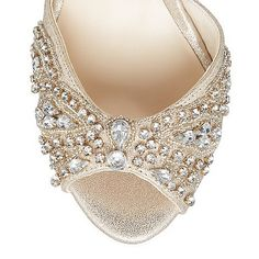 No. 1 Jenny Packham Gold jewel embellished high sandals | Debenhams