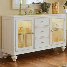 We pinned this Camden Server from the Winter Whites & Brights event. The perfect piece to display your Holiday dishware!