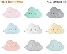 Cloud Pillow  Nine Colors  white blue mint pale yellow by ProstoConcept | Etsy
