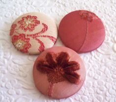 Berry mix 3 fabric covered buttons 1 7/8 by EmbellishedLife2