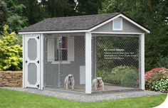 when I have lots of money someday...larger indoor area with beds & toys & a small grassy area in the corner of the outdoor kennel (so they know where to potty). Comfort outside when I'll be gone for the day.