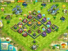 FPSXGames Battle Beach IOS Game Games like Clash of Clans #gamer #ClashofClans #videogame #IOSGame