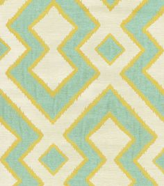 A decorative geometric design defined by simplicity and symmetry. Add a contemporary look to your room using this durable fabric for your projects to complement your home décor theme.  Content: 59% Po