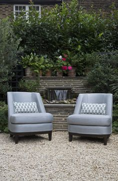The Ivy Chelsea Garden - London 2015 - Coco Wolf Porch Furniture, Upholstered Furniture, Outdoor Furniture Sets, Outdoor Armchair, Outdoor Chairs, Outdoor Decor, The Ivy Chelsea, Chelsea Garden, Outside Room