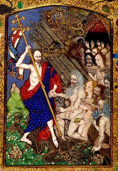 Harrowing of Hell. England/Netherlands 1490-1510. Harley 1892. BL
