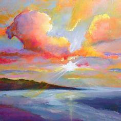Stephanie Schlatter, Michigan artist. Happy, beautiful paintings!