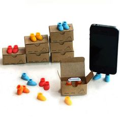 2-in-1 Creative Colorful Shoes iPhone Stand and Anti-Dust Plug