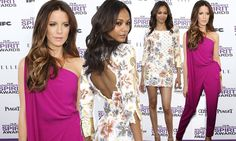 Stepping out into Spring! Kate Beckinsale and Zoe Saldana don bright and flirty looks leading the stars  in the style stakes at Spirit Awards