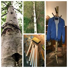 Do it yourself. Homemade coatrack off birch from our garden.