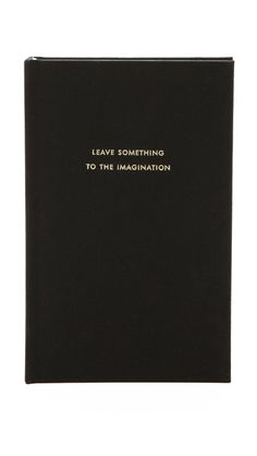 #Inspiration | @kate spade new york Leave Something to the Imagination Journal