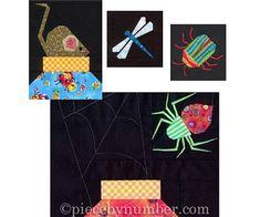 Escaping Bugs Bottle Quilt pattern paper door PieceByNumberQuilts