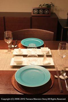 「 カレーも見た目よく!ターコイズ皿の実力。 」の画像|Terrace Mansion Story|Ameba (アメーバ)