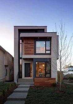 most popular modern dream house exterior design ideas for you 33 - Architecture Minimalist House Design, Modern House Design, Duplex Design, Modern Contemporary House, Loft Interior Design, Design Bedroom, Home Design, Small Modern Home, Small Modern House Exterior